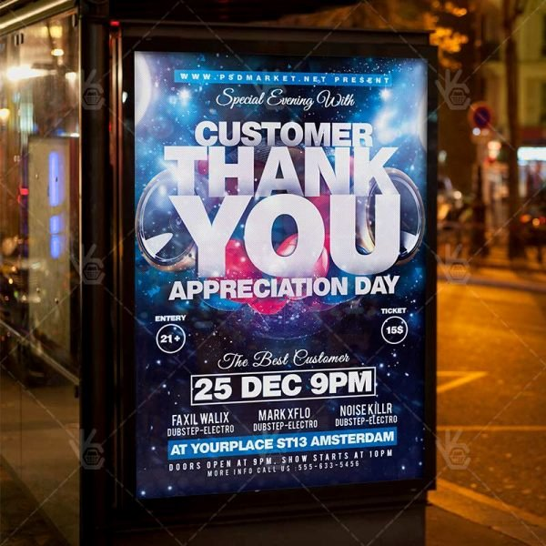 Customer Appreciation Day Flyer Template Lovely Appreciation Day Business Flyer Psd Template