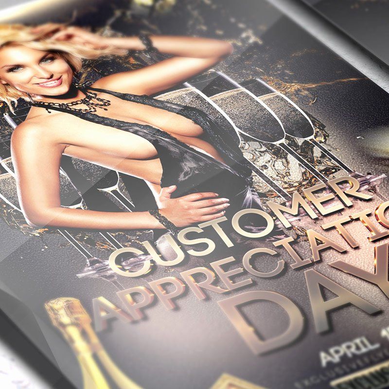 Customer Appreciation Day Flyer Template Lovely Customer Appreciation Day – Premium Flyer Template