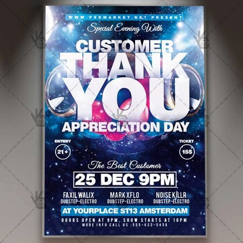 Customer Appreciation Day Flyer Template Unique Appreciation Day Business Flyer Psd Template