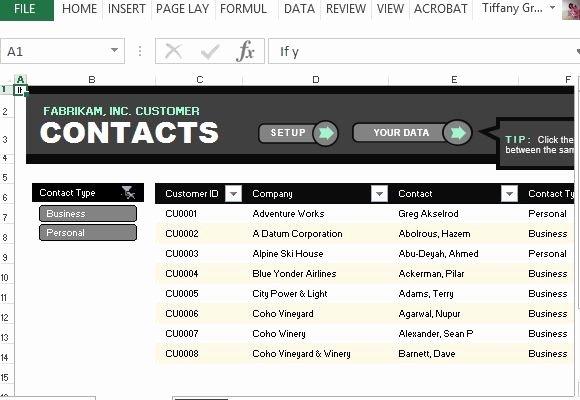 Customer Contact List Template Best Of Customer Contact List Template for Excel