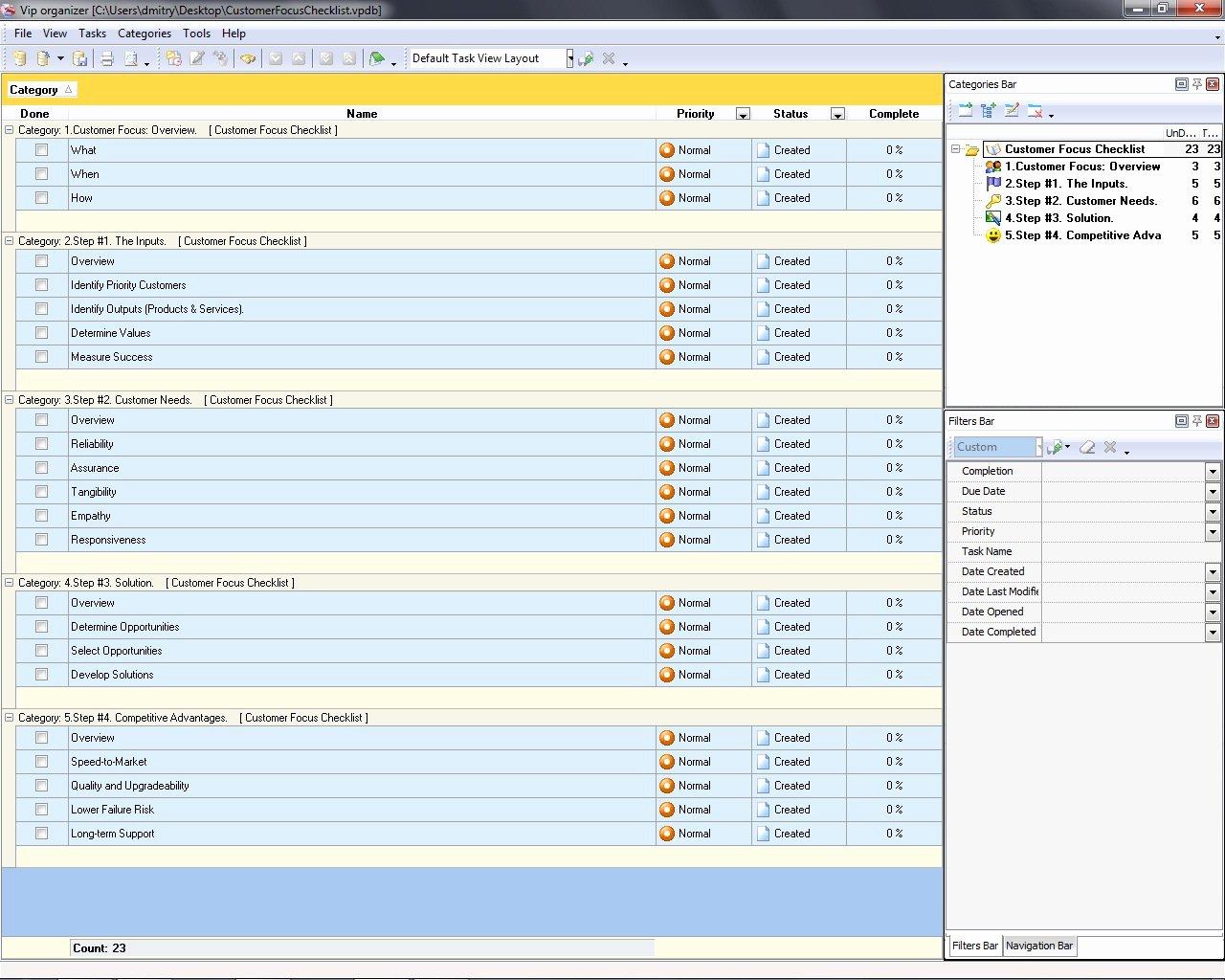 Customer Contact List Template Fresh Customer Focus Checklist to Do List organizer