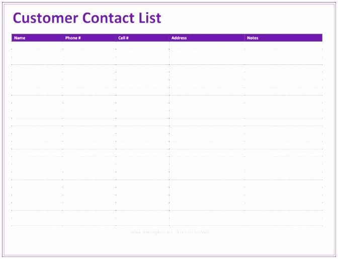Customer Contact List Template Inspirational 6 Excel Mailing List Template Free Etora