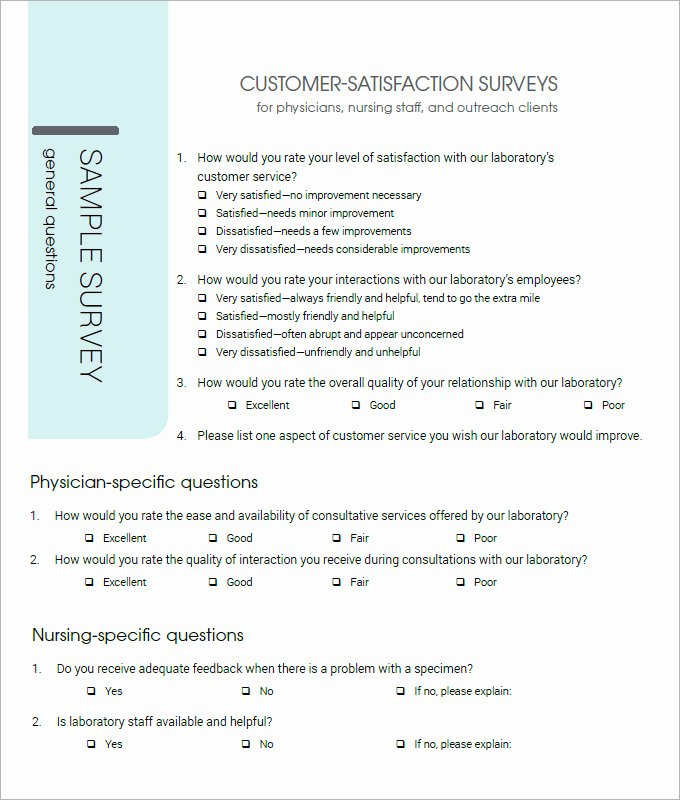 Customer Satisfaction Survey Template Word Elegant Customer Satisfaction Survey Template 10 Free Pdf Word