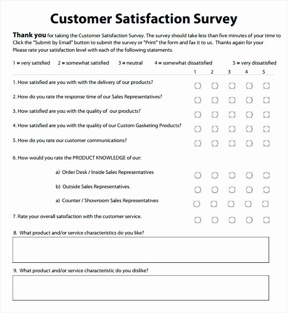 Customer Satisfaction Survey Template Word Elegant Customer Satisfaction Survey Template Word Sample Grand