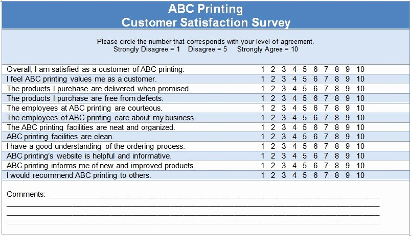 Customer Satisfaction Survey Template Word Lovely Customer Satisfaction Questionnaire Template — the