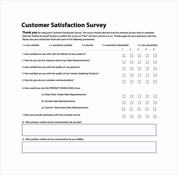 Customer Satisfaction Survey Template Word Luxury 13 Sample Customer Satisfaction Survey Templates to