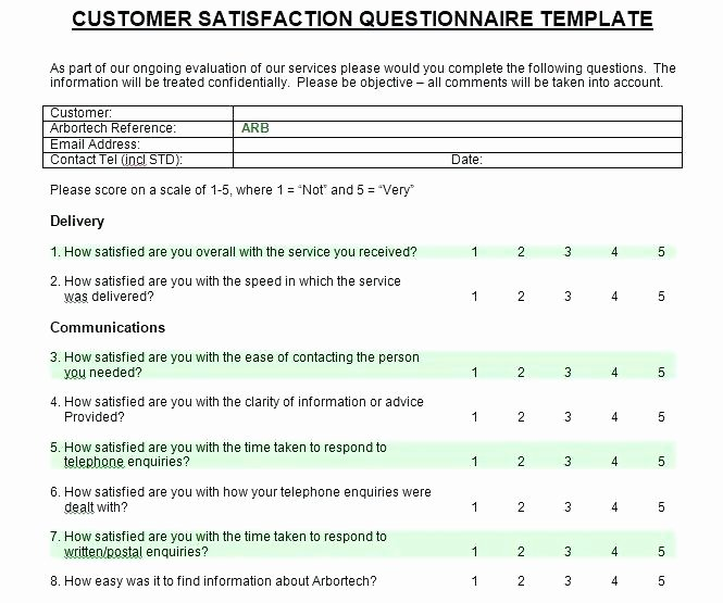 Customer Satisfaction Survey Template Word Luxury Feedback form Template Excel Customer Survey Templates