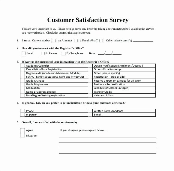 Customer Satisfaction Survey Template Word New Customer Survey Template Word Customer Receipt Template