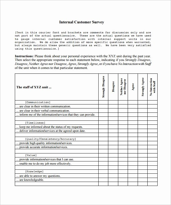 Customer Satisfaction Survey Template Word Unique Customer Satisfaction Survey Template 8 Download Free