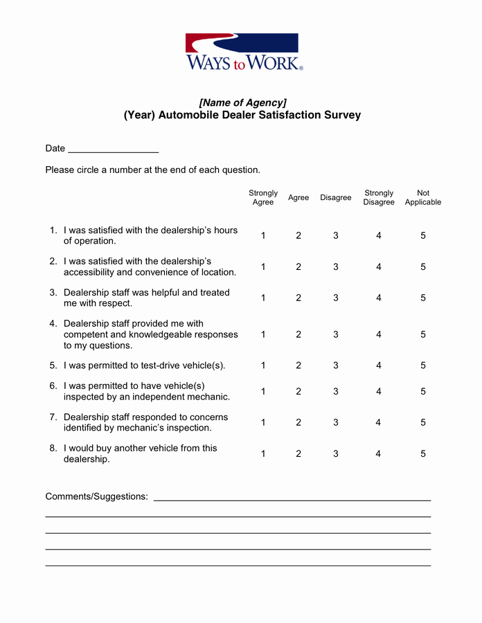 Customer Satisfaction Survey Template Word Unique Customer Satisfaction Survey Template In Word and Pdf formats