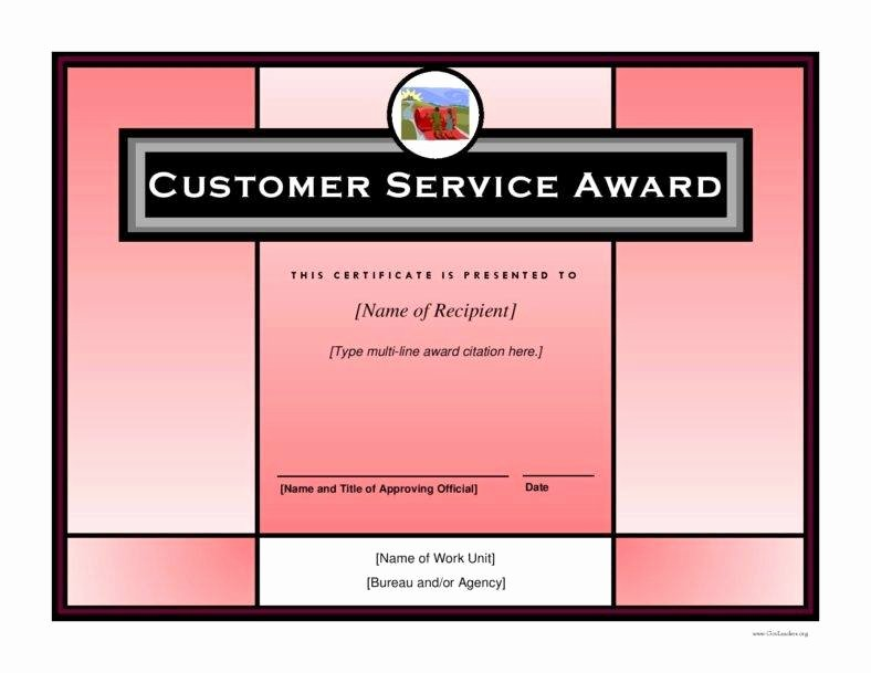 Customer Service Award Template Awesome 8 Employee Recognition Certificates