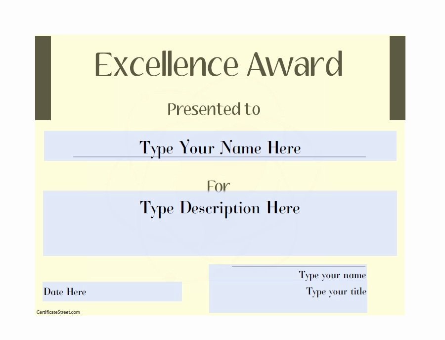 Customer Service Award Template Lovely Customer Service Excellence Award Template 50 Amazing