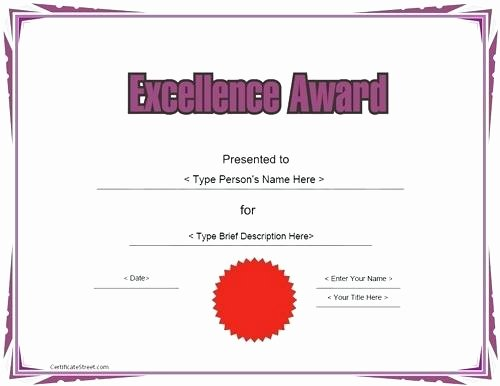 Customer Service Award Template New Customer Service Excellence Award Template Award
