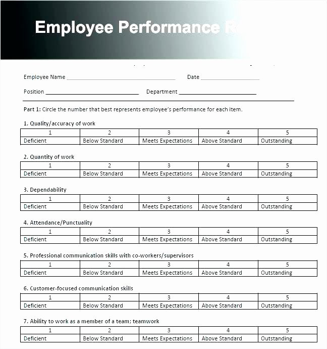 Customer Service Performance Review Template Inspirational Free Employee Performance Review Templates Dpmap Annual