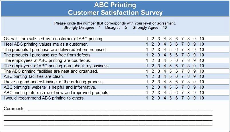 Customer Service Survey Template Beautiful Customer Satisfaction Questionnaire Template