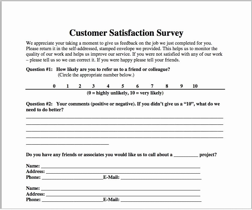 Customer Service Survey Template Best Of Customer Satisfaction Survey Template Construction