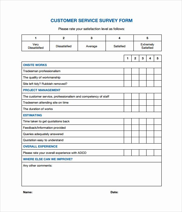 Customer Service Survey Template Inspirational 7 Customer Survey Samples