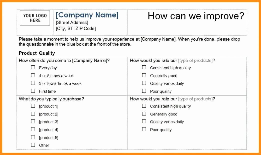 Customer Service Survey Template New 6 Customer Satisfaction Survey Template Excel