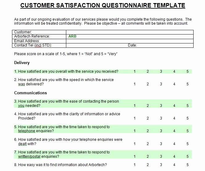 Customer Service Survey Template New Customer Satisfaction Survey Introduction Sample