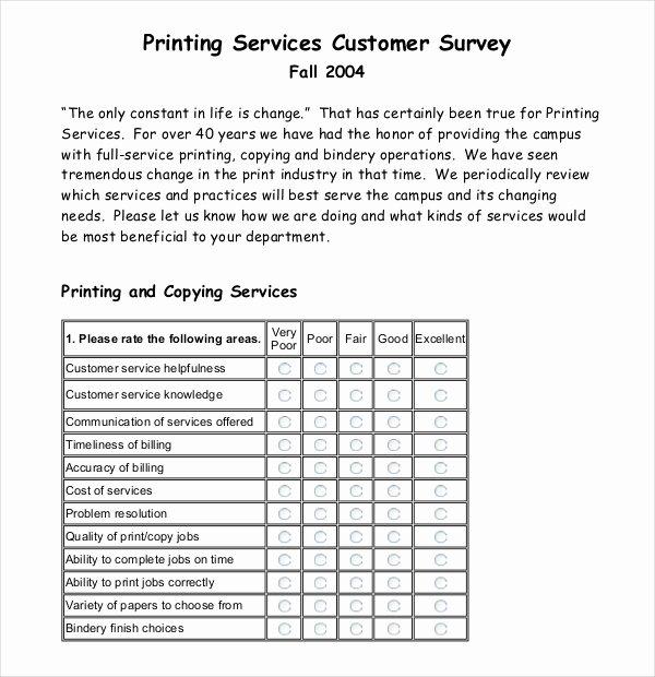 Customer Service Survey Template Unique 12 Customer Survey Templates – Doc Pdf