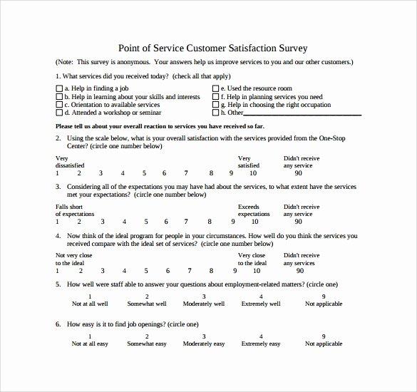 Customer Service Survey Template Unique 14 Customer Satisfaction Survey Samples