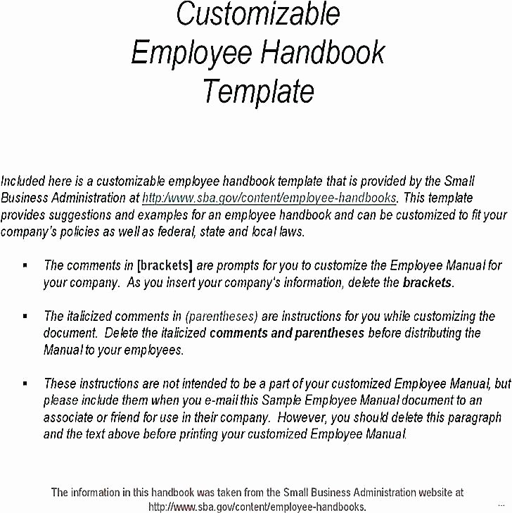 Customer Service Training Manual Template Fresh Employee Manual Templates Handbook Human Centered Design