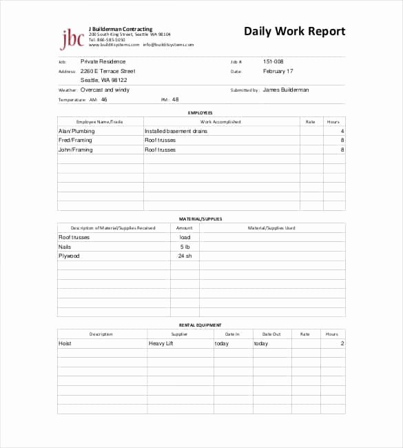 Daily Activity Report Template Excel Fresh 64 Daily Report Templates Pdf Docs Excel