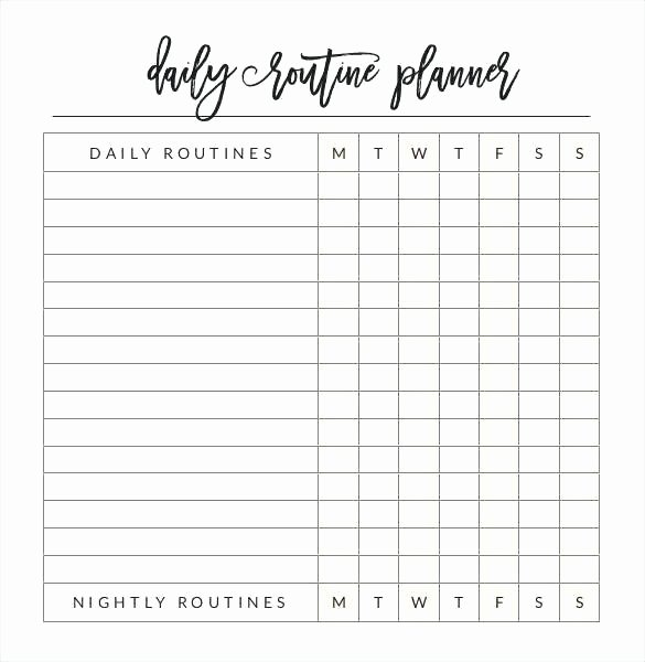 Daily Activity Schedule Template Best Of Daily Activity Planner Template – Skincense