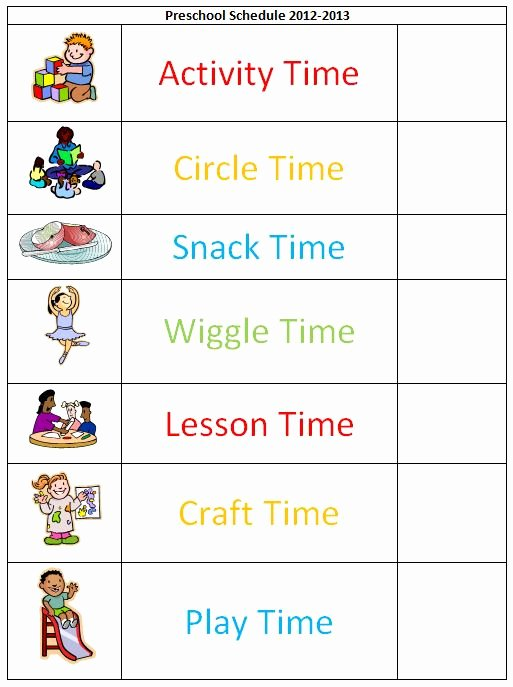 Daily Activity Schedule Template Inspirational Mommy Magic September 2012