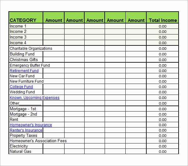 Daily Budget Template Excel Awesome 8 Examples Of Bi Weekly Bud Templates