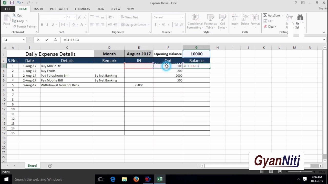 Daily Budget Template Excel Beautiful How to Maintain Daily Expenses In Excel