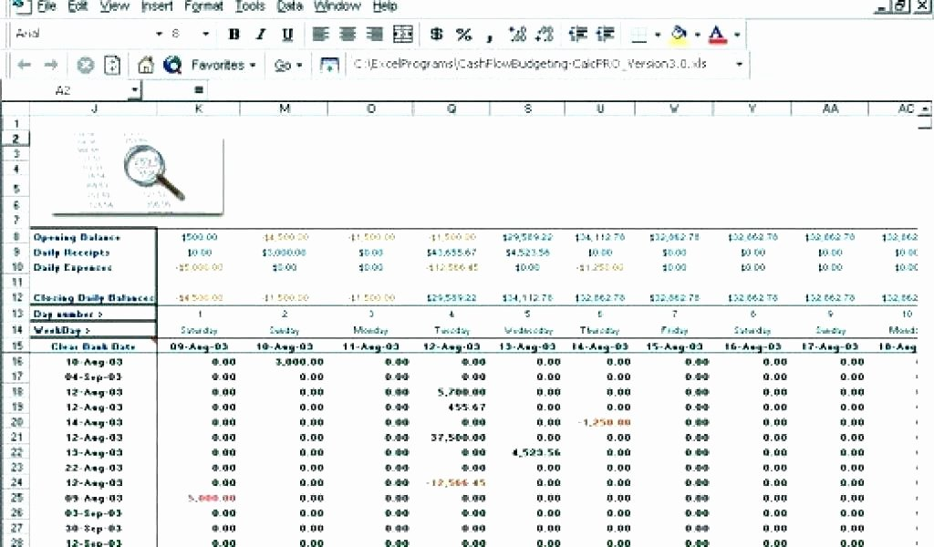 Daily Cash Flow Template Beautiful Cash Flow Spreadsheet Excel Cash Flow Excel Template Cash