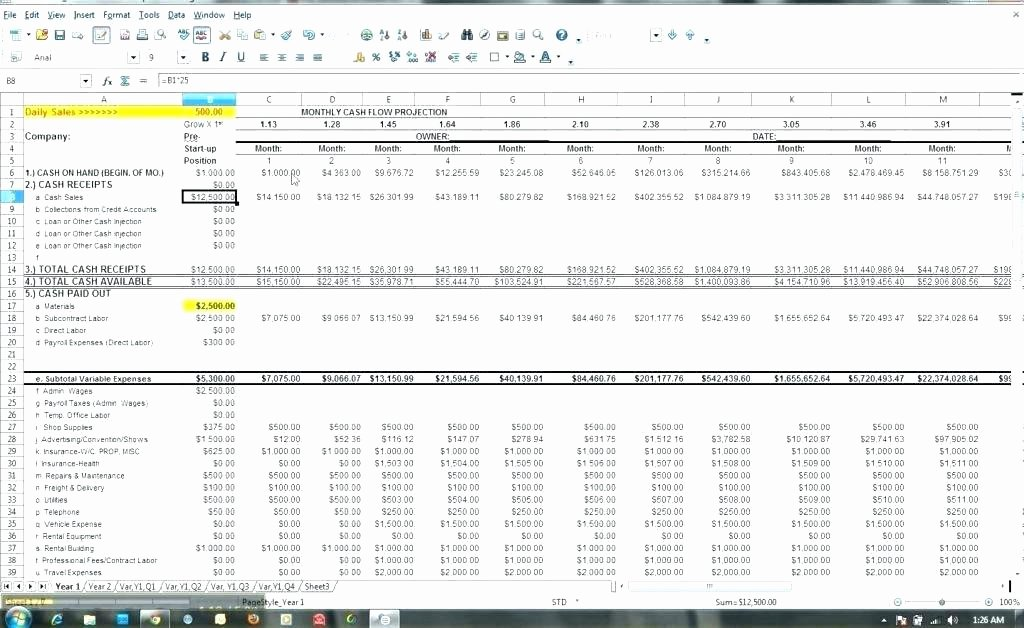 Daily Cash Flow Template Beautiful Daily Cash Flow Template Excel Best forecast Word