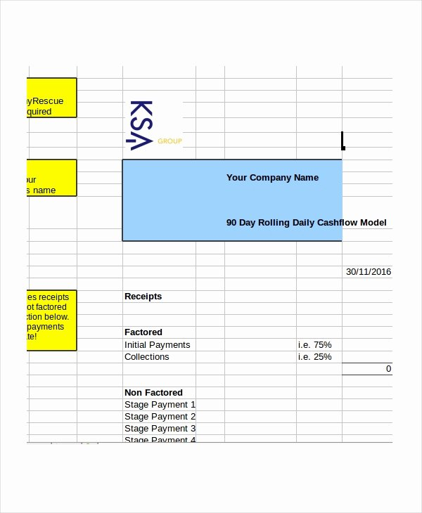 Daily Cash Flow Template Elegant Cash Flow Excel Template 11 Free Excels Download