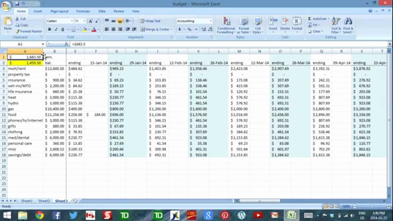 Daily Cash Flow Template New Using Excel to Bud Part 3 Daily Cash Flow
