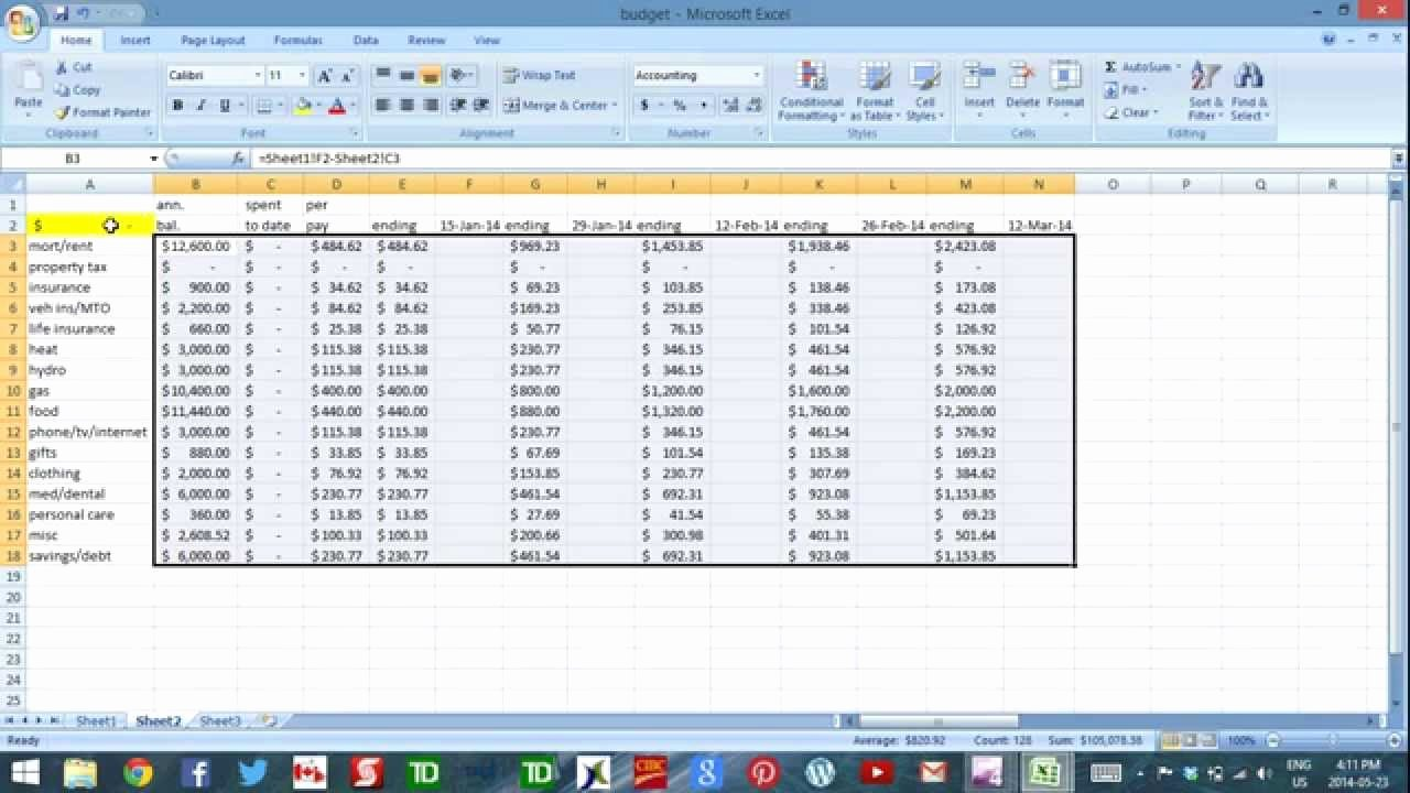 Daily Cash Flow Template Unique Using Excel to Bud Part 4 Cash Flow Template