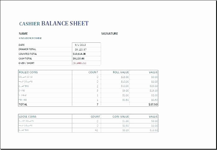 Daily Cash Reconciliation Template Unique Daily Balance Sheet Template Medium to Size Daily