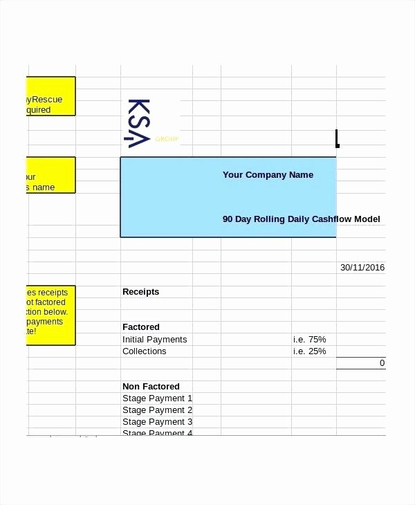 Daily Cash Report Template Excel Inspirational Daily Cash Flow Statement format In Excel Free Download
