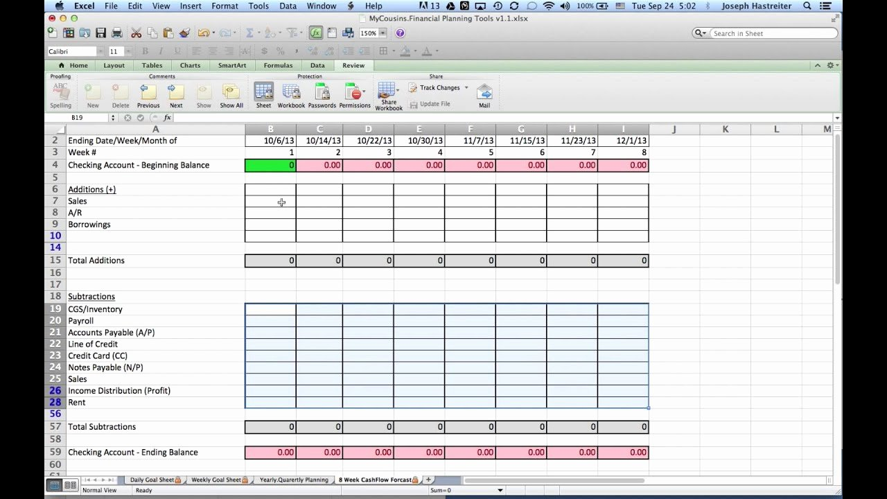 Daily Cash Report Template Excel Luxury How to Do A 8 Week Cash Flow forecast