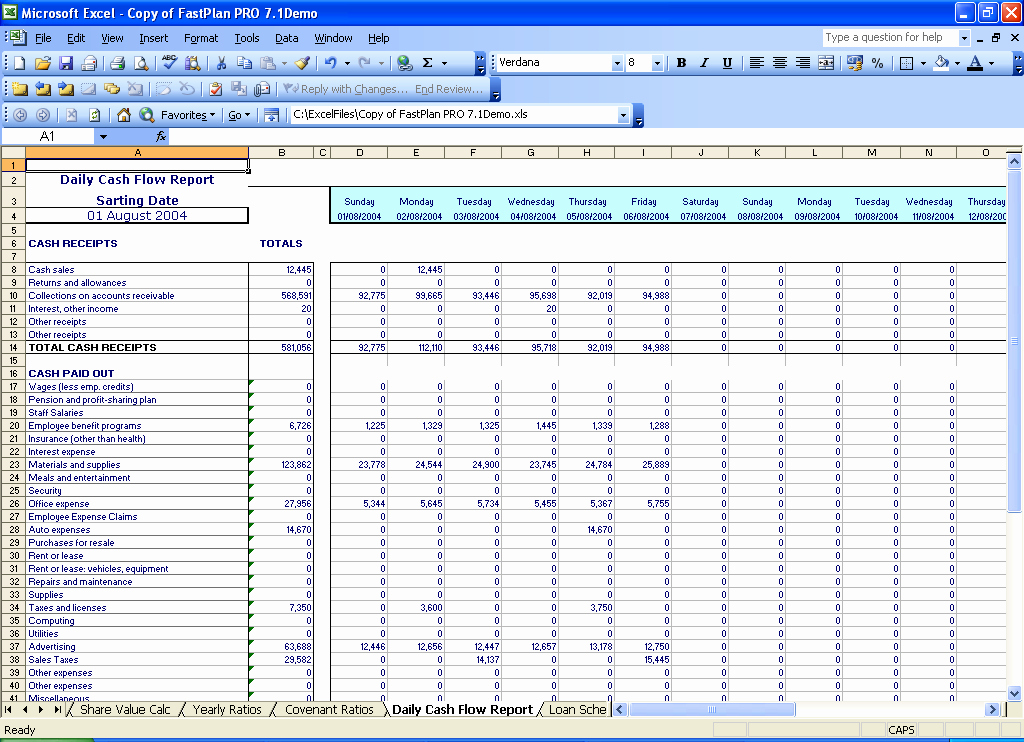 Daily Cash Report Template Inspirational 5 Years Monthly Bud Planner Spreadsheets