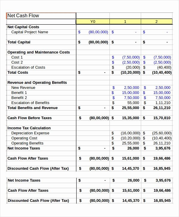 Daily Cash Sheet Template Excel Awesome Cash Flow Excel Template 11 Free Excels Download