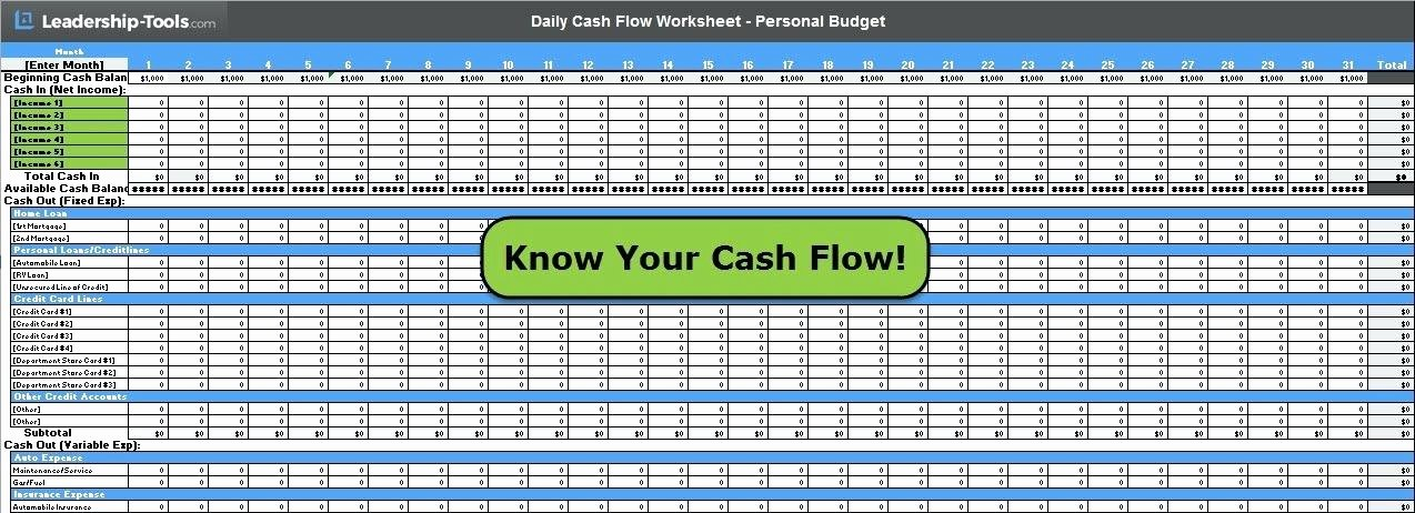 Daily Cash Sheet Template Excel New Daily Cash Flow Template Daily Cash Flow Template Excel