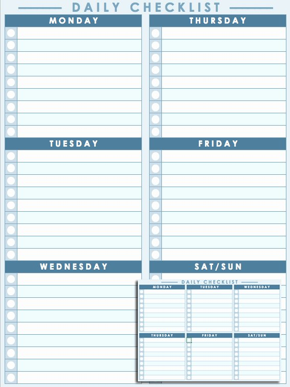 Daily Checklist Template Excel Inspirational Free Daily Schedule Templates for Excel Smartsheet