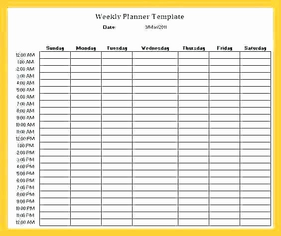 Daily Hourly Schedule Template Fresh Daily Hourly Schedule Template – Flybymedia