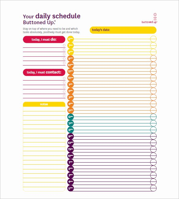 Daily Hourly Schedule Template Unique Hourly Schedule Template 35 Free Word Excel Pdf