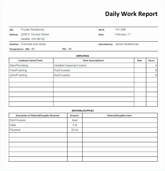 Daily Production Report Template Excel Beautiful Weekly Report format Excel – Whatafanub