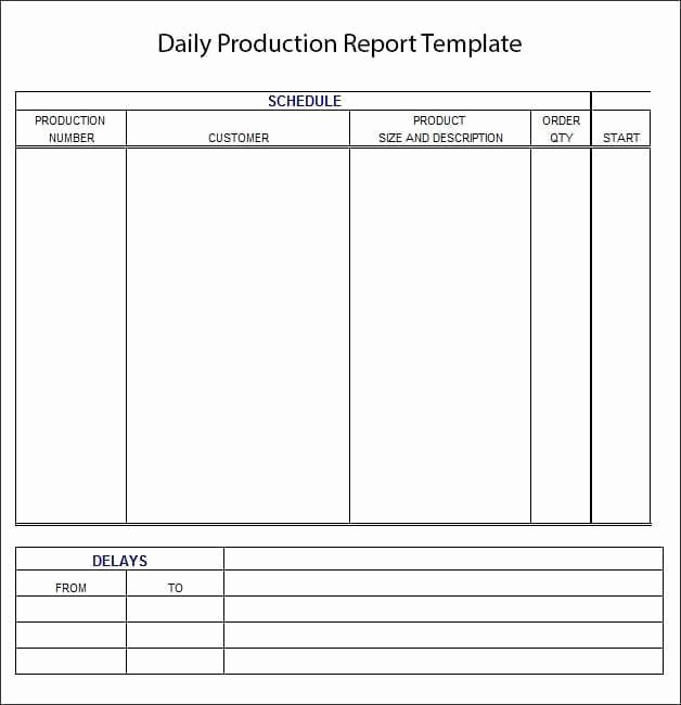 Daily Production Report Template Excel Inspirational 10 Daily Report Templates Word Excel Pdf formats