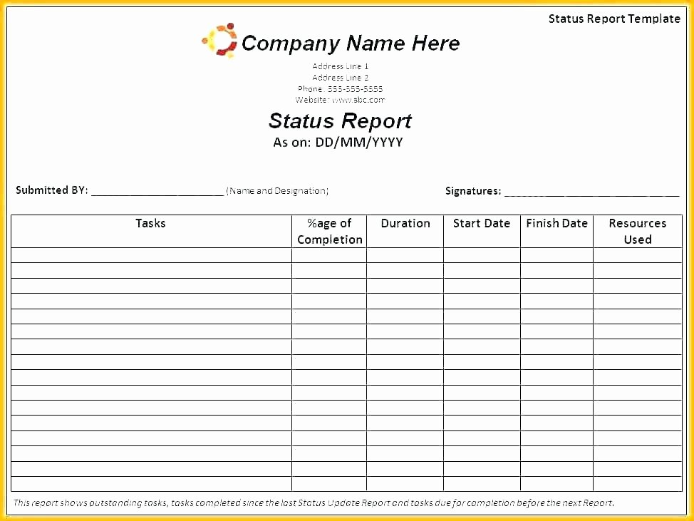 Daily Production Report Template Excel Inspirational Weekly Report format In Excel – iso Certification