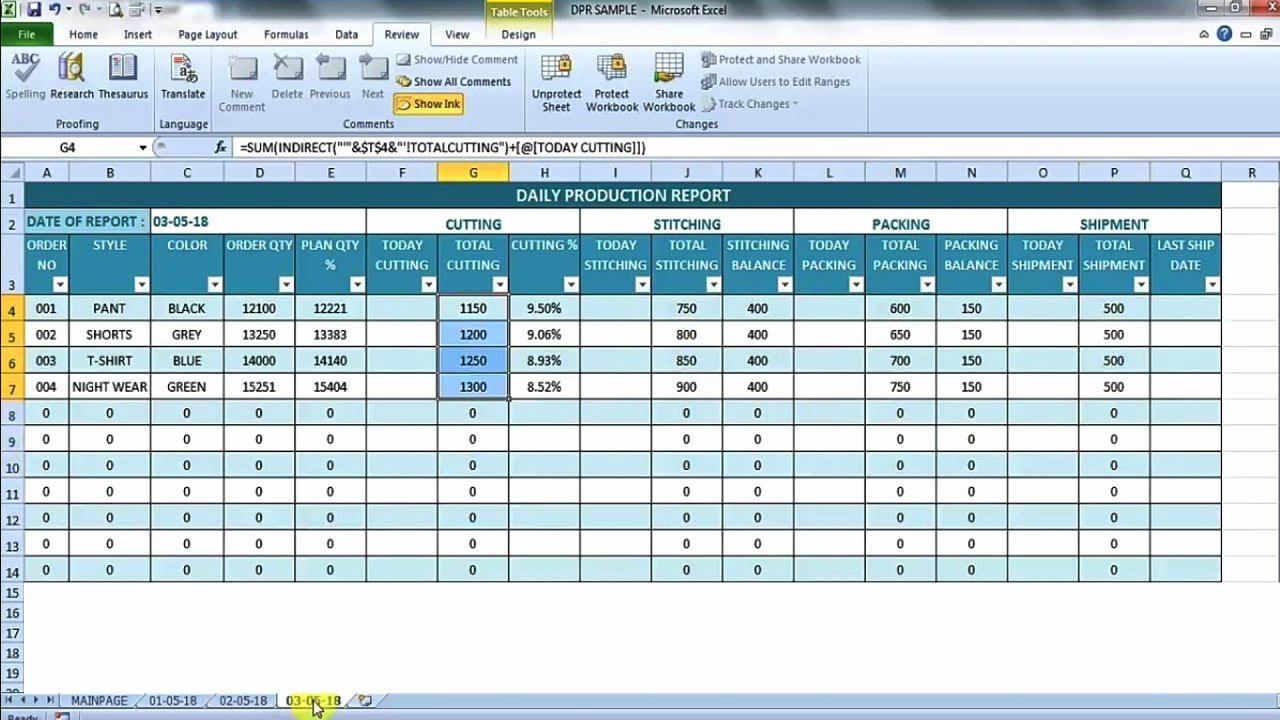 Daily Production Report Template Excel Lovely Daily Production Report In Excel