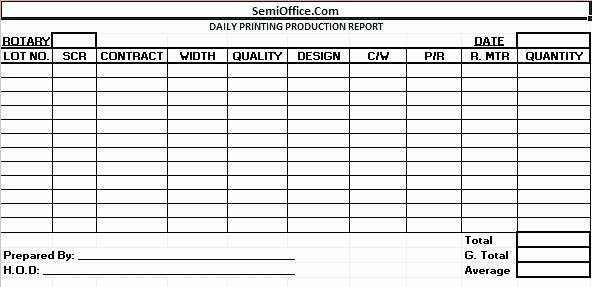 Daily Production Report Template Excel New Production Report Template Excel Awesome Daily format In